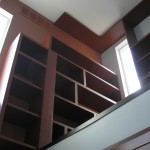 Custom Bookcases from Ground Level