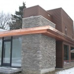 Contemporary Addition- Cooper, Stone and Steel