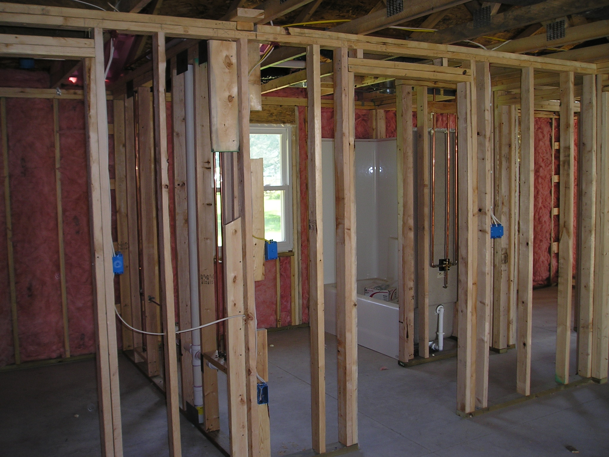 Under construction kingston builders for Framing interior basement walls