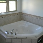 Corner Tub with Tile Surround