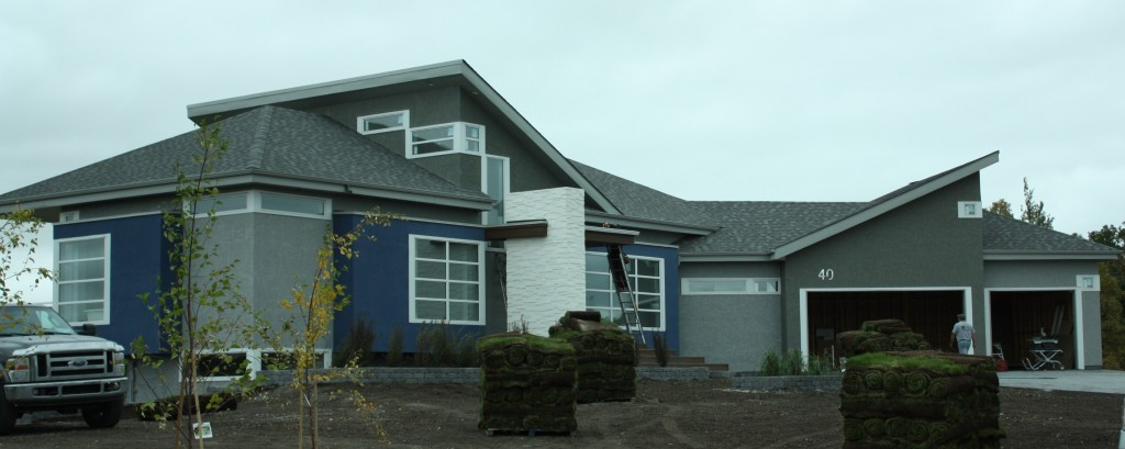Simple window trim - Trim Creme Stone Two Shades Of Gray Stucco And Blue Stucco Very